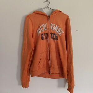 🍂A&F VTG ed Zip fleece hoodie sweatshirt